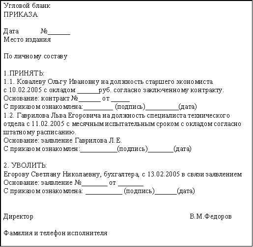 Раздел 3 организационно-распорядительные документы.