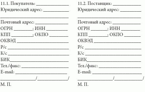 договор на фасовку продукции образец