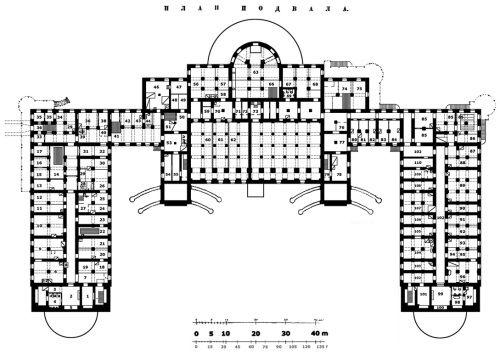 План подвалов Александровского