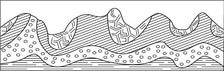 Схематический рисунок складчатых гор фото 464