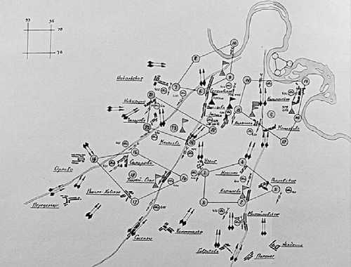 Схема противотанковой обороны