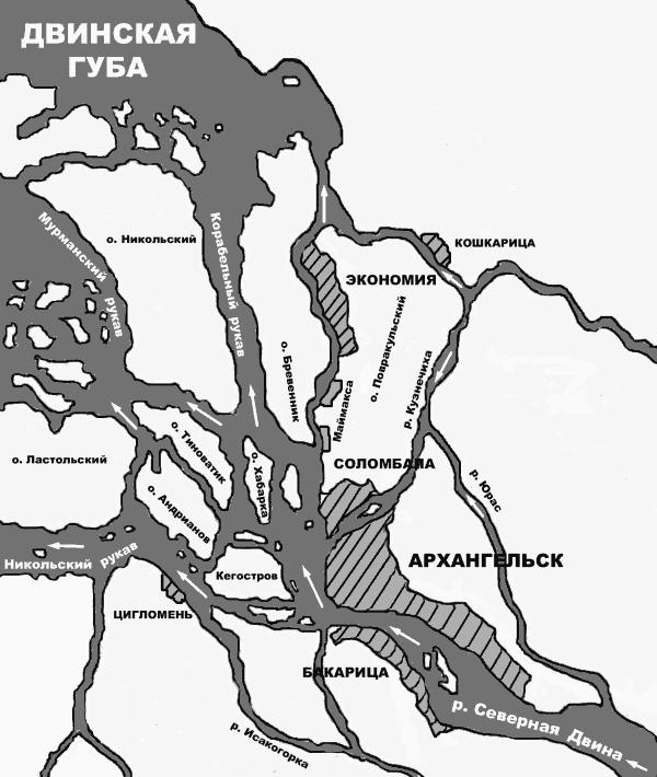 Схема основных районов