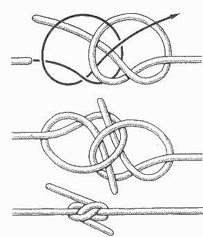На уздечке члена завязывают узелок