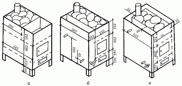 Чертежи-печь для бани своими руками