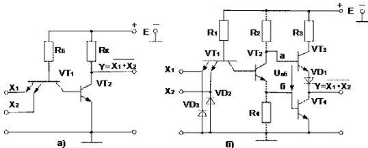 Схема логика инвертор