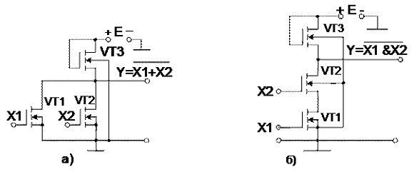 Рисунок 18 Схемы элементов МОП