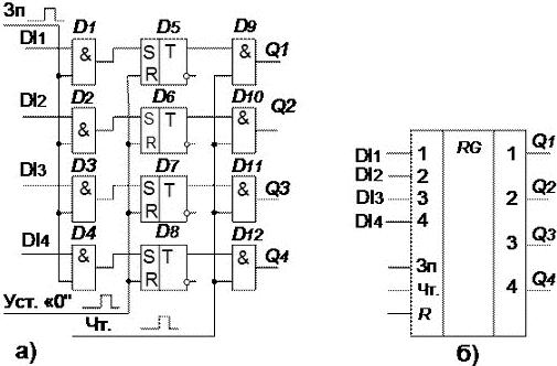схема 4-разрядного