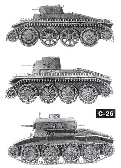 танки (сверху вниз): Т4,